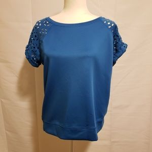 Stylus Blue Short Cut Out sleeves